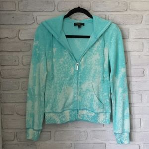 💥SALE Bleached Juicy Couture Turquoise Hoodie S